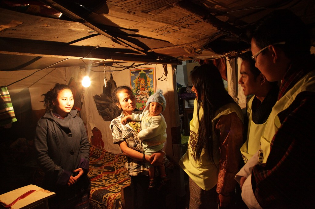 Y-VIAs conducting an outreach project in the Kala Bazaar slum community in Thimphu